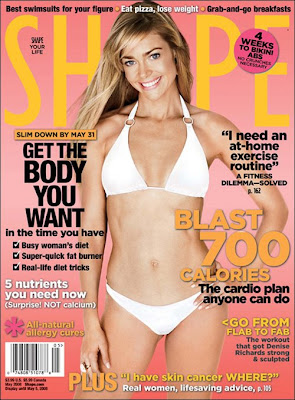 Denise Richards on the cover of Shape Magazine May 2008