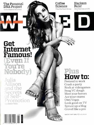 Julia Allison on Wired Magazine Cover Julia Allison on Wired Cover