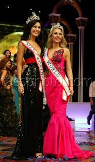 Mrs World 2008 Natayla Shmarenkova with Mrs World 2007 Diane Tucker