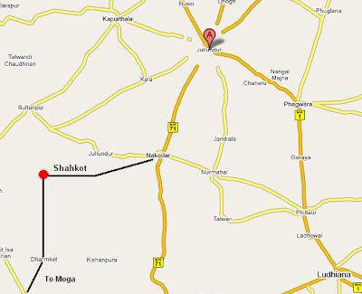 Map of Shahkot in Jalandhar District
