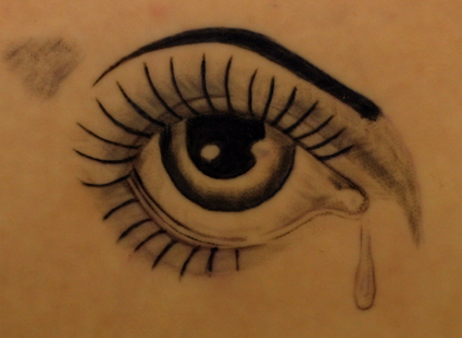 tattoo sadness: Crying Eye Tattoo