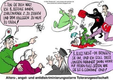 German police — cartoon