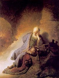 'By the Rivers of Babylon' by Rembrandt van Rijn