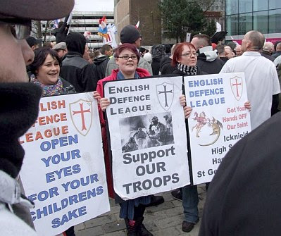Members of the thuggish and fascistic English Defence League?