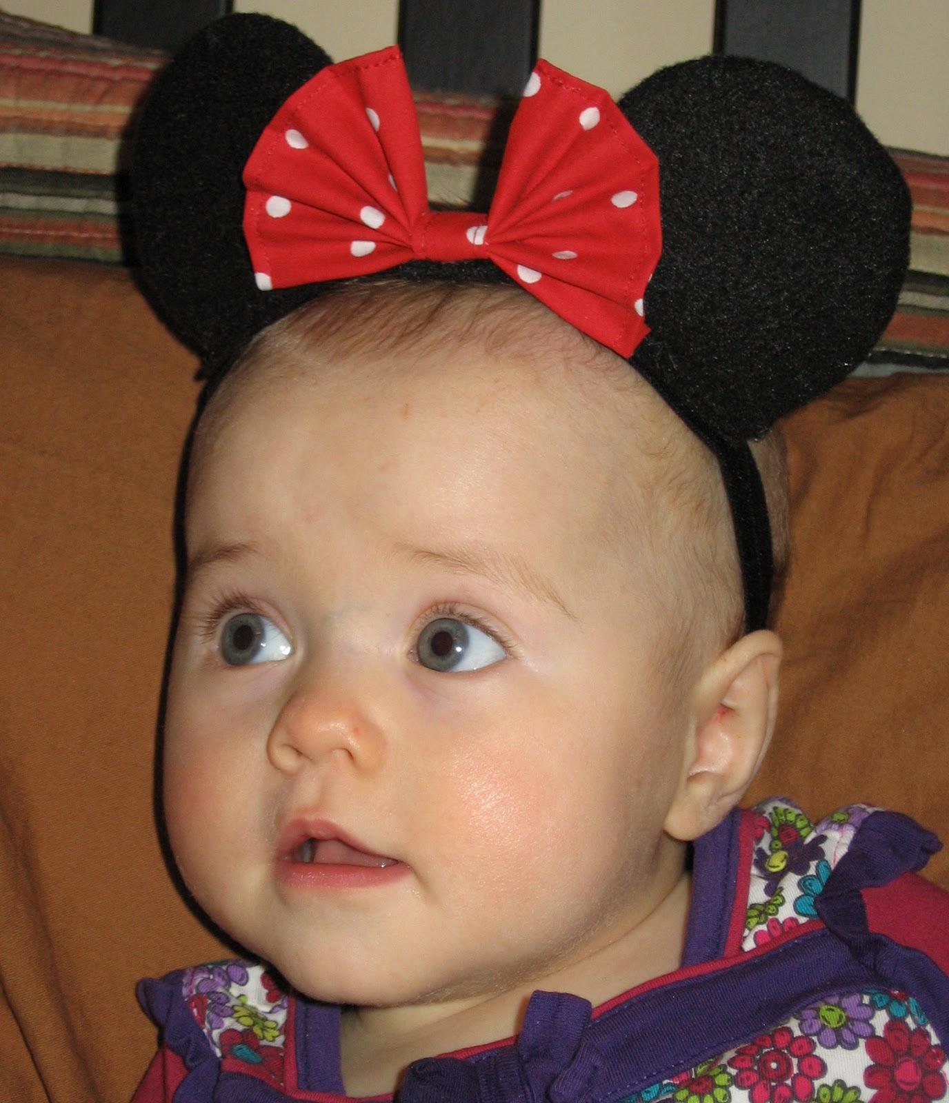 sc 1 st  DIY kinda girl & DIY kinda girl: Minnie Mouse ears for baby tutorial