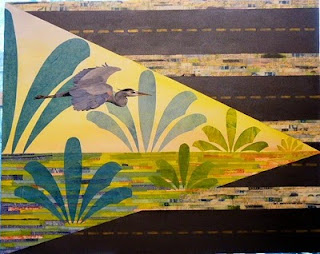 great blue heron painting they paved paradise
