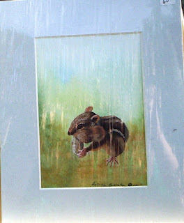 chipmunk with peanut painting