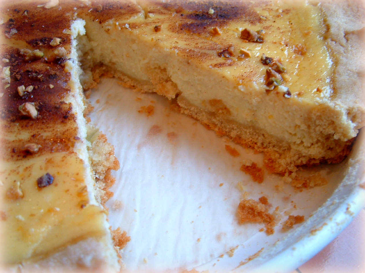 Italian Sweet Ricotta Pie with Candied Pistachios – Plus How to Make a Perfect Pie Crust