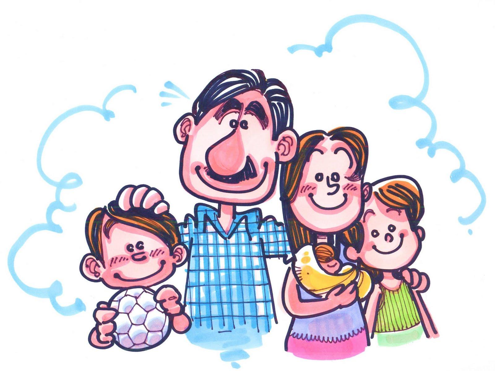 Imagen De Una Familia Feliz Animada: Dibujos Animados De Familias Felices