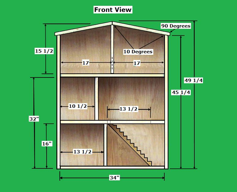 To find the Free Dollhouse Plans that we used from rodswoodworking go ...