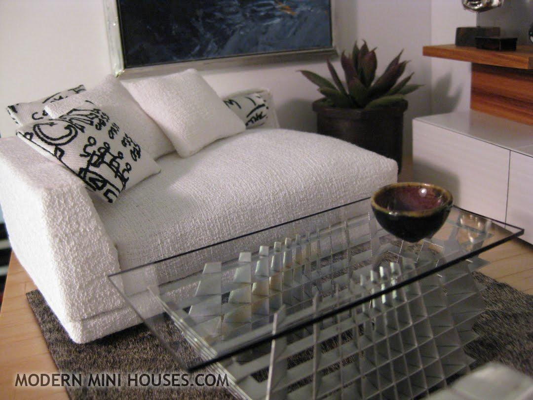 Dollhouse Miniature Sectional Sofa Dfs 2 Seater Modern Mini Houses