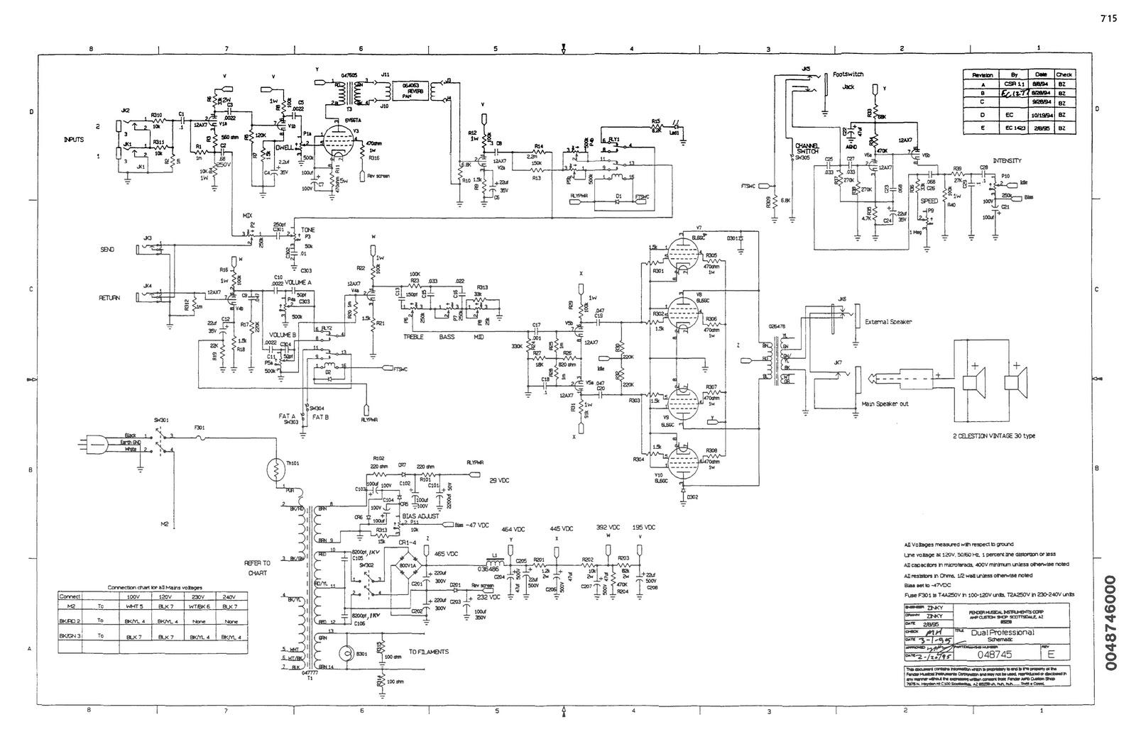 fender tone-master / vibro-king / dual pro circuits
