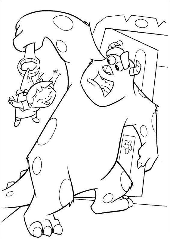 Maestra de Infantil: Monstruos SA. Dibujos para colorear.