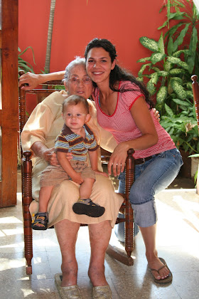 Me, Isaac, and my aunt Egda at her house in Nicaragua