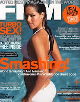 Ana Ivanovic on cover of FHM magazine