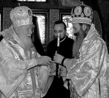 Prea Fericitul Teoctist cu Înalt Prea Sfinţitul Teofan, Mitropolitul Olteniei