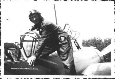 B 17-plan på Såtenäs på 1940-talet