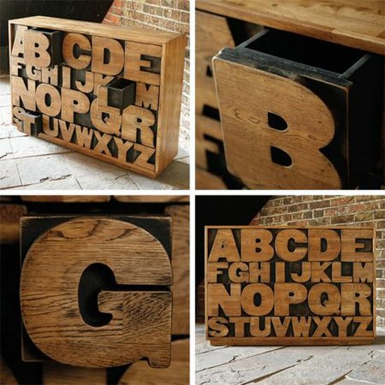 Weird Home Decor: Lifestyle Cafe: Alphabet Letters For Unusual Home Decor
