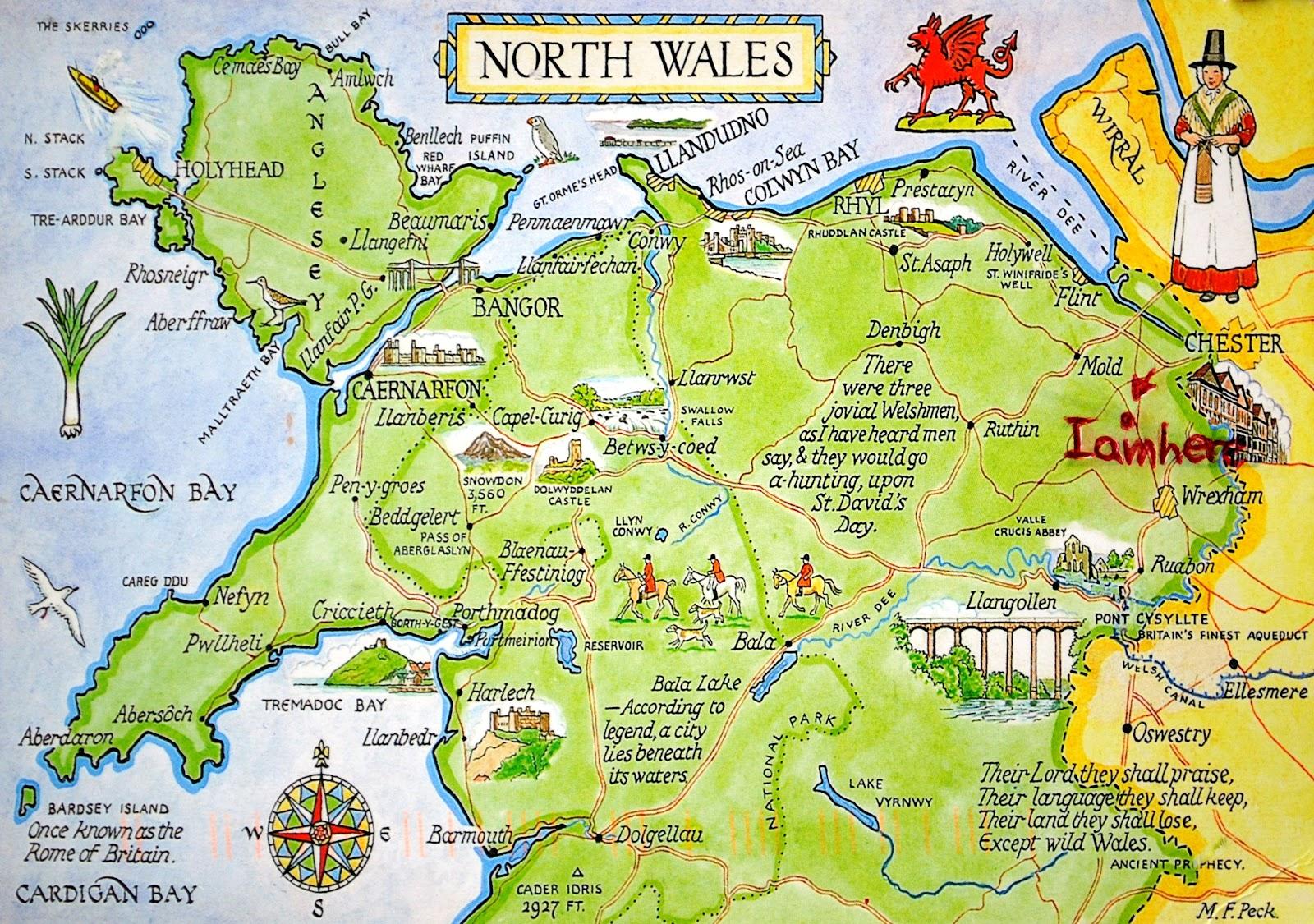 Mapa Walii