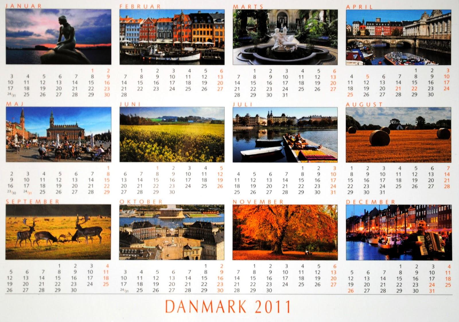 kalendarz pocztówka