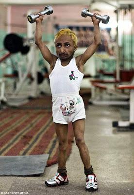 Midget indian bodybuilder