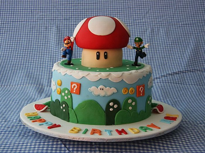 mario bros mushroom cake