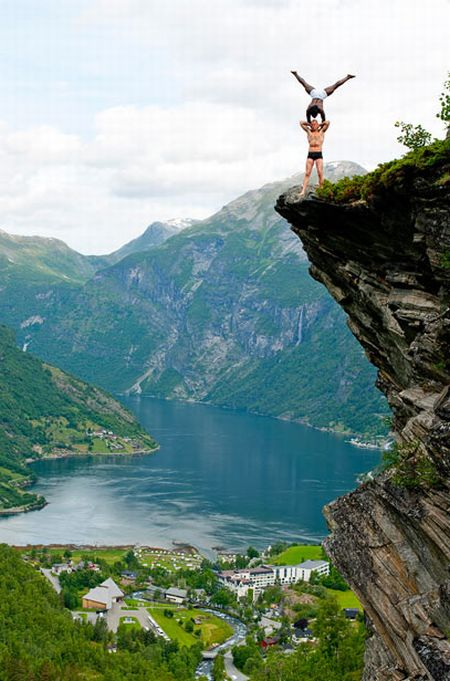 Eskil Ronningsbakken Balancing On 1000ft Cliff Damn