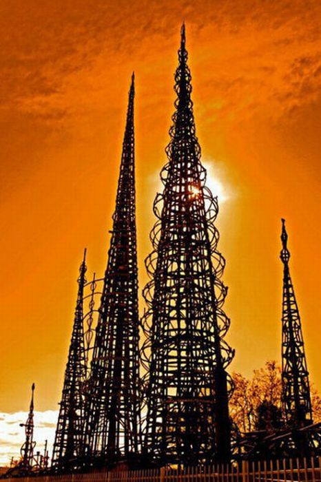 Watts Towers The Project Of A Lonely Man Damn Cool Pictures