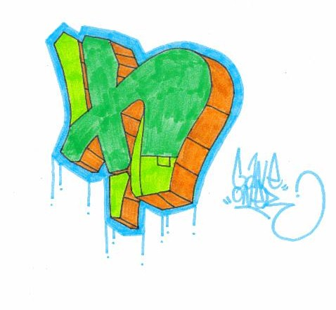 Graffiti Mawor Indilabel Creation Bubble Letters H