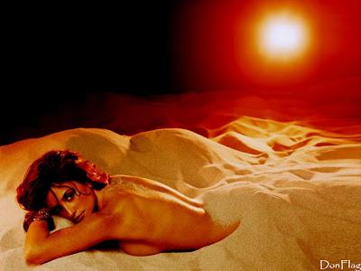 Penelope Cruz desert