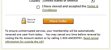 Ancestry warns
