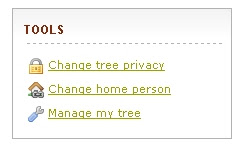 Click Manage my tree
