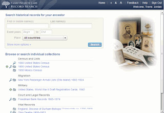 Record Search Home Page