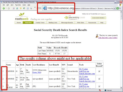 Screen Image of Automated-Agent Search