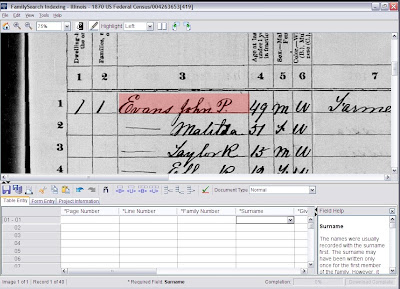 FamilySearch Indexing program