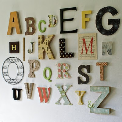 Custom Nursery Art by Kimberly: Alphabet Art