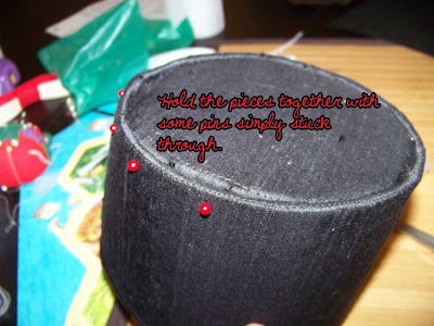 f2020c78bad6c Now for the brim. This is done in the same manner as the top - cut tabs on  the inside circle of the brim
