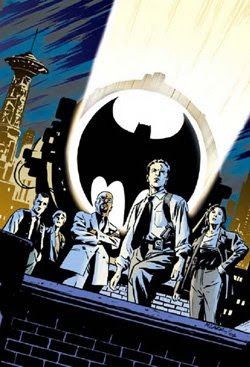What's Christopher Darden from the O.J. trial doing standing in front of the Batsignal?