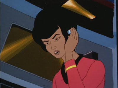 Lt. Uhura, holdin' it down on the switchboard.