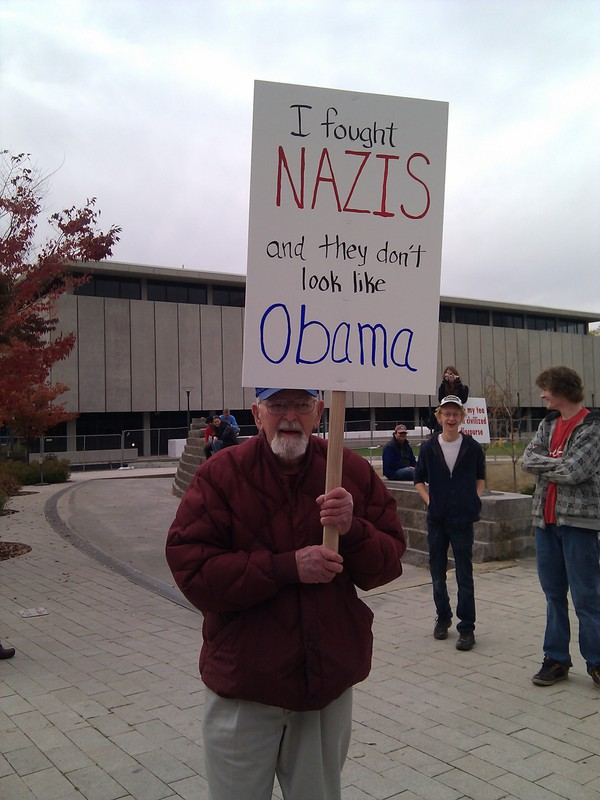'I fought Nazis and they don't look like Obama.'