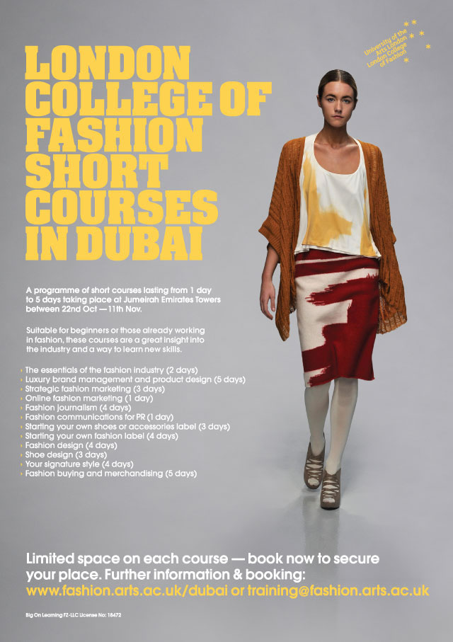 Fashion Design Short Courses In Dubai School Style