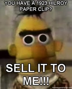 Bert From Sesame Street Acquires Rare Paper Clip Blog Globs