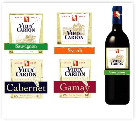 lise orgebin design etiquette de vin vieux carion. Black Bedroom Furniture Sets. Home Design Ideas