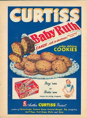 Dying for Chocolate: Baby Ruth Cookies