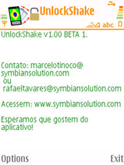 UnlockShake for Nokia S60 3rd edition