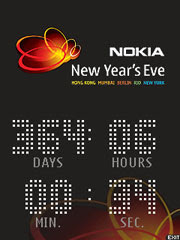Nokia New Years Eve Countdown Clock