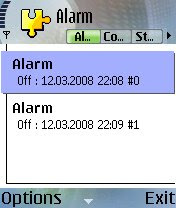 Clock Alarm Manager for Nokia S60 2nd edition