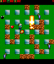 MiniBlaster is a game for Nokia Series 60 phones (Series 60 1st, 2nd and 3rd edition, e.g. 7650, N-Gage, 6670, 6630, E70 etc.), inspired by the old classics Bomberman and DynaBlaster.