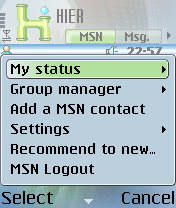 HIER - MSN messenger for Series 60