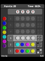 Mastermind - Free Flash Lite game for mobil phone